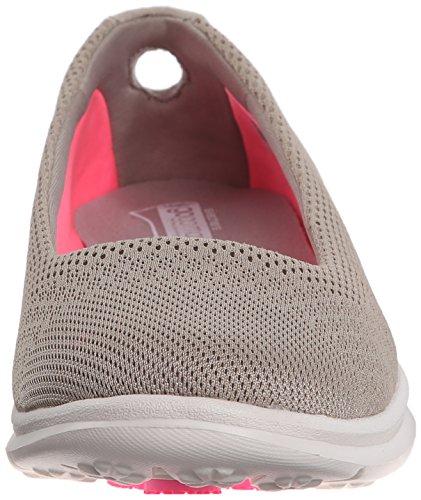 Skechers prestazioni delle donne andare passo sfida Passeggiare scarpe Rete grigio tortora