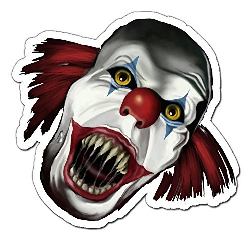 Scary Clown Funny Aufkleber Sticker for Skateboards, Snowboards, Scooters, BMX, Mountain Bikes, Laptops, iPhone, iPod, Guitars etc