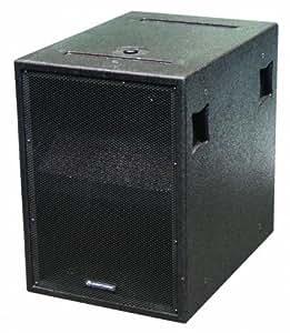 """Omnitronic PAS-118 800W Noir - subwoofers/caissons de basses (800 W, 38 - 500 Hz, 8 Ohm, 45,7 cm (18""""), 1600 W, Noir)"""