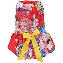 Elegante vestido Ropa de fiesta de la falda del partido del Perro cachorro de Perro mascota Vestirse vestido de novia, 28cm busto