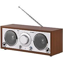 TZS First Austria–Retro radio con AUX-In para teléfono móvil, AM/FM, sonido nítido, 2tubos Bass Reflex, Nostalgie Radio, cocina, carcasa de madera de radio AM/FM