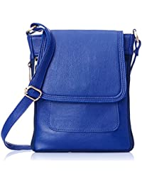 Style Loft Leather Blue Sling Bag Cross Body For Love Birds(SL-017)
