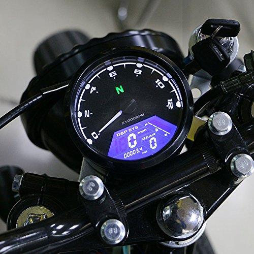 12000RPM motocicleta universal LCD señal velocímetro tacómetro odómetro calibre para 4 tiempos...