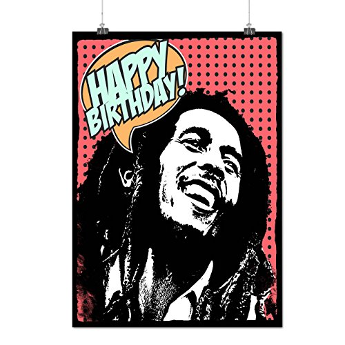 Bob Marlety Pot Geburtstag Bob Marley Mattes/Glänzende Plakat A4 (30cm x 21cm) | Wellcoda