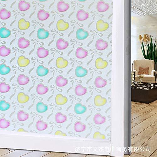 lsaiyy Transluzente undurchsichtige Matte Aufkleber Glasfolie explosionsgeschützte Membran Aufkleber - 70CMX10M Floral Matte Jersey