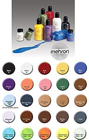 Mehron Liquid Make Up 1oz (Suitable for airbrush) (Yellow)