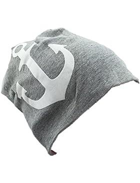 Baby Kinder Jersey Slouch Beanie Long Mütze mit Anker Unisex Baumwolle Trend