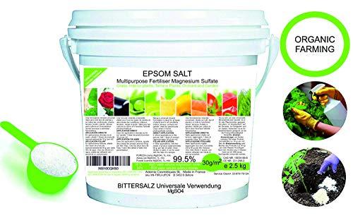 solfato di magnesio fertilizzante naturale 2.5 kg. uso universale. migliora la crescita di colture, giardini, piante da appartamento ed esterno consentito in agricoltura biologica