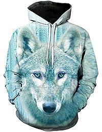 Integrity's home Mens Hoodies Printed 3D Patterned Pullover Hooded Sweatshirt Hoody