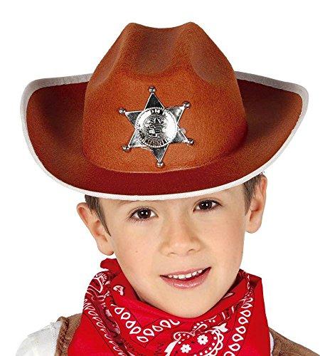 KINDER HUT - SHERIFF - braun (Cowboy Hut Helm)