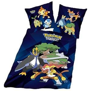 Herding 441030077 Housse de couette Pokemon 140x200 cm + taie d'oreiller 70 x 90 cm Linon