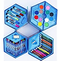 Little Toys Art Set,Colors Box,Color Pencil,Crayons, Water Color, Sketch Pens Set of 46 Pieces for Kids Best Birthday…