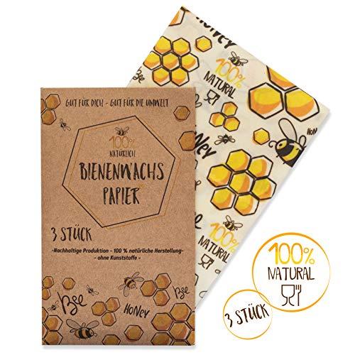 vanHeyden 2.Generation Bienenwachstücher mit europäischer Zulassung | 3er Set | Das Wachspapier für Lebensmittel | Bees Wrap | Die wiederverwendbare Frischhaltefolie für ihren Zero Waste Lifestyle