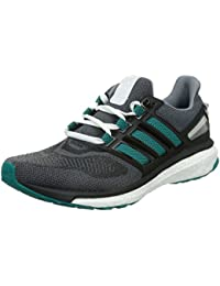 Adidas Energy Boost 3 M, Zapatillas de Deporte para Hombre, Gris/Verde/Negro (Gris/Eqtver/Negbas), 46 2/3 EU