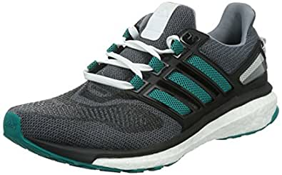 adidas Men's Energy Boost 3 M Grey, Green and Black Running Shoes - 7 UK