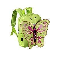 Advocator Kindergarten Nursery School Cute Butterfly Children's Backpack School Rucksacks Shoulders Bags Knapsack Packsacks for Children-Green