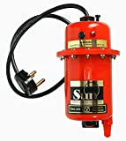 #10: Sun Instant Water Geyser, Water Heater, Portable Water Heater, Geysers Made Of First Class ABS Plastic, Manual Reset Model, Red Color (Red) AE9 - 2 KW