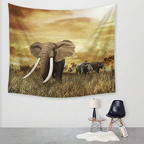 Tapiz de elefante tapiz de impresión digital manta de pared toalla de playa mantel, elegantes pinturas minimalistas.12 150 * 130 cm