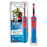 Oral B Star Wars - Cepillo electrico, recargable y pasta de dientes Oral B, color azul y rojo