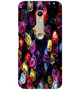 PrintDhaba Roses D-4377 Back Case Cover for MOTOROLA MOTO X PURE EDITION (Multi-Coloured)