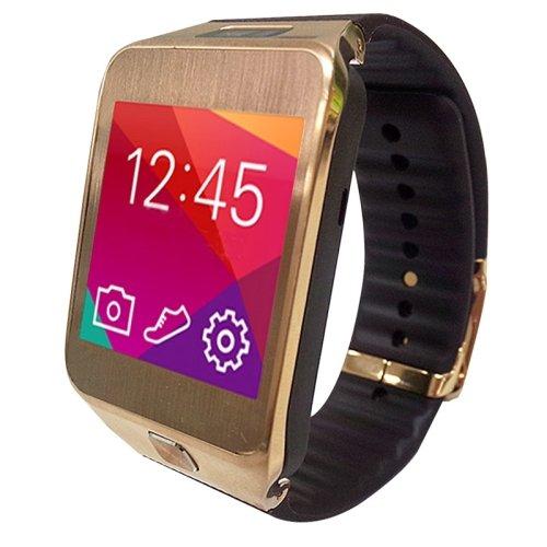 No.1G2, 1.54pulgadas Waterproof TFT Screen SmartWatch con Plastic Brand para Smartphone, Bluetooth 4.0/2.0MP camera/Heart Rate Sensor/pedomisuratore/remote-control (Gold)