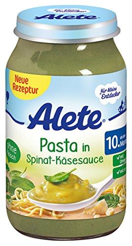 Alete Pasta in Spinat-Käse Sauce, 6er Pack (6 x 220 g) Spinat-pasta-sauce