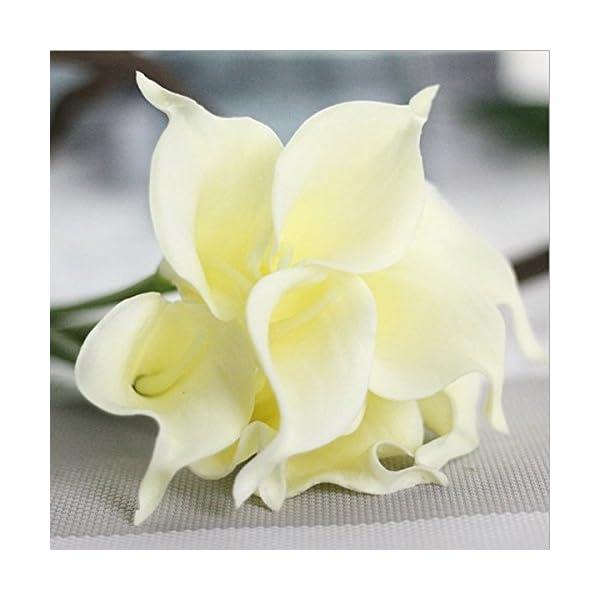 Ndier 9 ramos de flores artificiales de cala, decoración floral para el hogar, boda, fiesta, accesorio de fotografía…