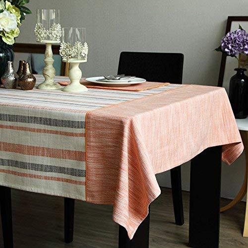 (Kreative Tischdecke Home Tischdecke Stoff Moderne minimalistische Nachahmung Leinen Tischdecke Nordic Art Square Western Tischdecke (Farbe: Orange, Größe: Tiaowen (140 * 180cm)) Tischdecke zum Essen)