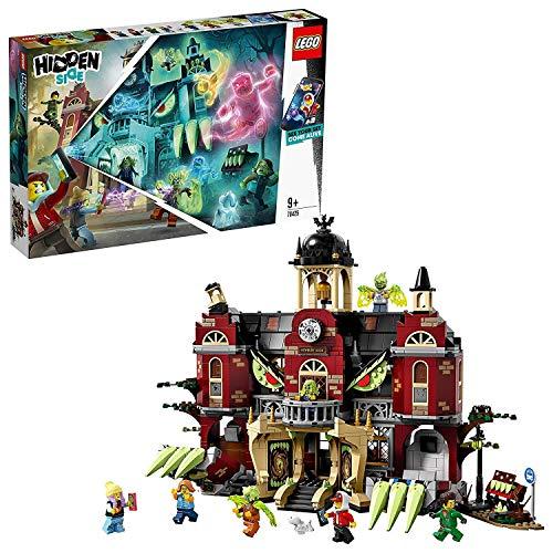 LEGO®-Hidden Side L'école hantée de Newbury Jeu de Construction Interactif de Chasse Aux Fantômes Réalité Augmentée pour iPhone Android Garçon et Fille 9 Ans et Plus, 1474 Pièces 70425