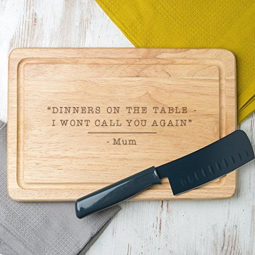 Personalised Funny Mum Quote Chopping Board - Mothers Day gift for Mum from Son - Mum Personalised Gift - Engraved presents for Mum from Daughter