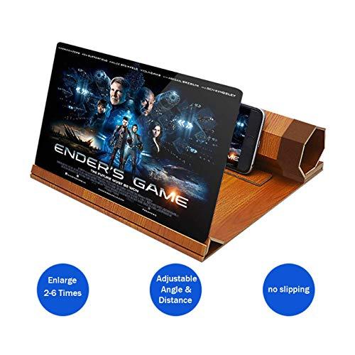 Lupa pantalla teléfono 3D soporte madera, pantalla