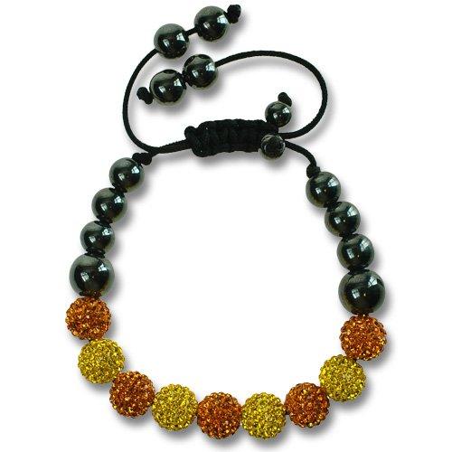 Braccialetto dell'amicizia shamballa con perle tempestate di cristalli swarovski, colori favolosi: fucsia, topazio, giallo, turchese e trasparente, idea regalo meravigliosa per lei e topazio e topazio, colore: blu, cod. jtpz4684