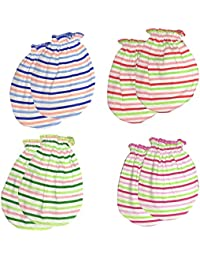 Generic Baby Mittens Combo (0-9 Months, Multicolour)