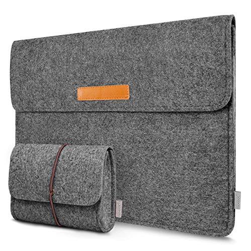 Inateck 13,3 Zoll Filz Laptop Hülle Tasche Kompatibel mit 13 Zoll MacBook Air 2012-2017/MacBook Pro Retina 2012-2015/ 12,9 Zoll iPad Pro 2015-2017