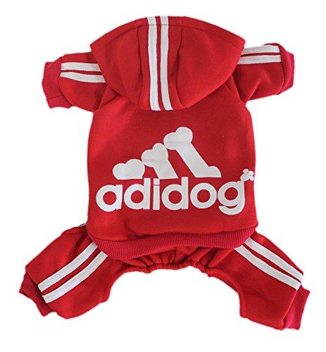Winter mit vier Beinen Hund Sweatshirts mit Kapuze,Rot Medium (Die Kapuze Kostüme)