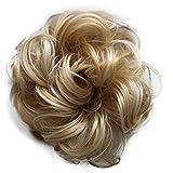 PRETTYSHOP Scrunchy Scrunchie Bun Up Do Hair Piece Hair Ribbon Ponytail Extensions Wavy Messy Blond mix # 86Ah613 G30A