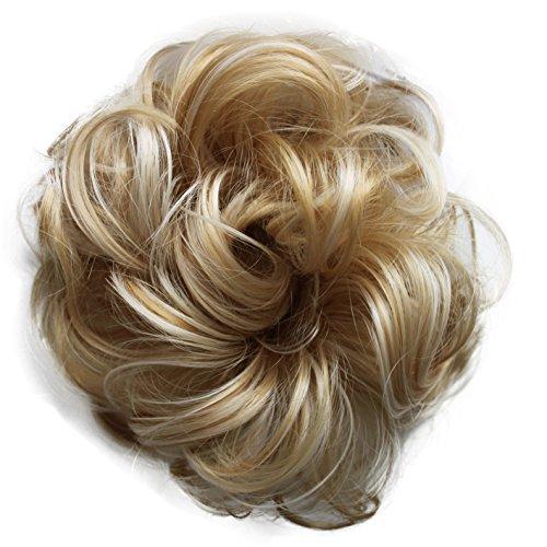 PRETTYSHOP queue de cheval postiche cheveux épaississement Chouchou updos fibre synthétique résistant à la chaleur blond mix # 86AH613 G30A
