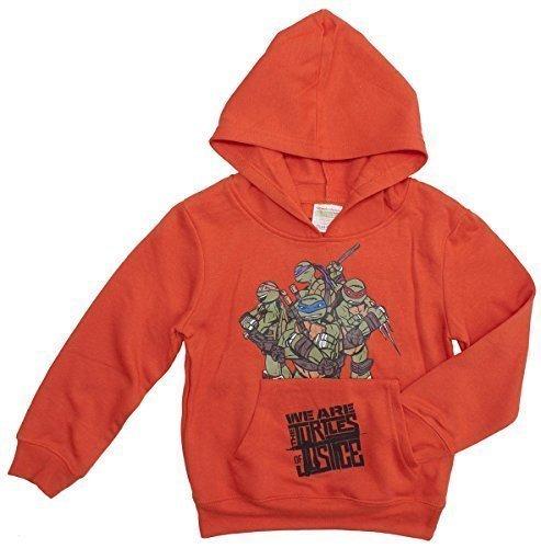 Jungen TMNT Teenage Mutant Ninja Turtles of Justice Sweat Kapuzenpulli Pulli Größen von 3 to 8 Years - Orange, 3 (Orange Ninja Turtle)