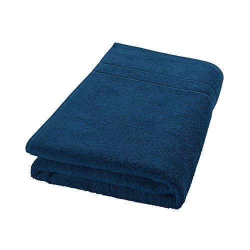 Decolicious - Serviette de toilette 100% coton peigné - 550gr/m² - Bleu turquoise foncé - 70x140 cm