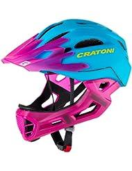 Cratoni C-Tracer-Casco de Maniac-Azul de rosa Downhill Mountain Bike