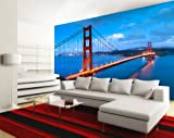 Fototapete Golden Gate Bridge USA KT234 Größe: 400x280cm Tapete Amerika Los Angeles Californien