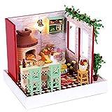 L&R Maison De PoupéesDoll House Mini maison meubles Kit décoration maison Pizza modèle anniversaire cadeaux
