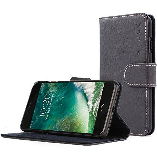 Snugg iPhone 7 and 8 Hülle, Apple iPhone 7 and 8 Klappetui Flip Cover Tasche Leder [Kartenfächer] Schutzhülle Lederbrieftasche Executive Design – Riverside Blue, Legacy Range