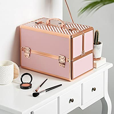 Professional Vanity Makeup Storage Case with Lock & Key