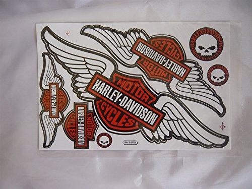 Pegatinas Harley Davidson, 1hoja tamaño DINA4, 20X 30cm