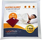 Warmzzz Wool Electric Blanket for Single Bed. Shock-Proof Blanket Heater with 4 Heat