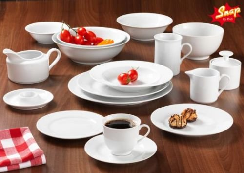Rb-serie (Snap By R&B Geschirr-Serie Bianco Material 6er Set Suppentasse Bianco (stapelbar))