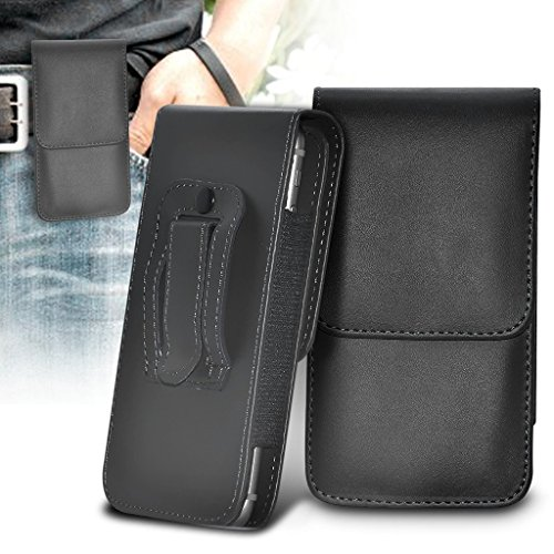 (Black 154 x 75,1 mm) Tasche Hülle für UMIDIGI Z1 Pro (PU) Leder-Gurt-Klipp-Beutel- Tasche Hülle-Schlag-Abdeckung Holster mit Magneten UMIDIGI Z1 Pro Tasche Hülle von i-Tronixs