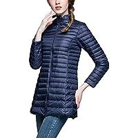 Down Jacket Women Long Packable Down Puffer Coat Lightweight Outwear