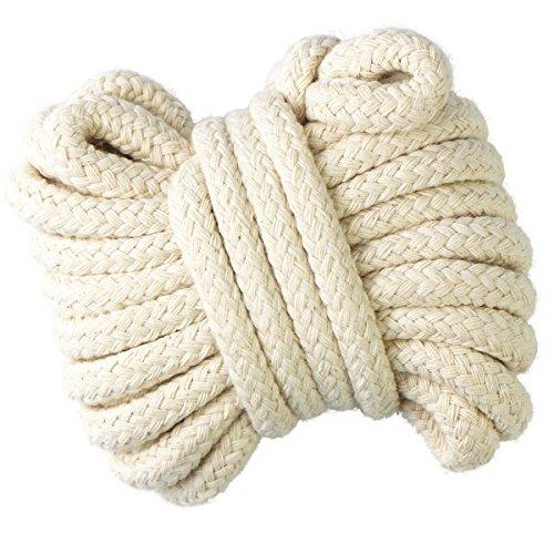 Gouert Cordón algodón 10mm Cuerda Trenzada Cuerda